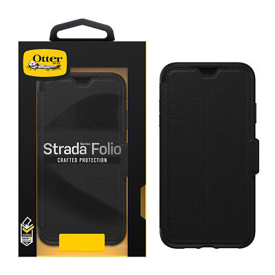 newest 59dd1 6db96 APPLE IPHONE XS Max OtterBox STRADA Folio Crafted Leather Wallet Case OEM  NEW!