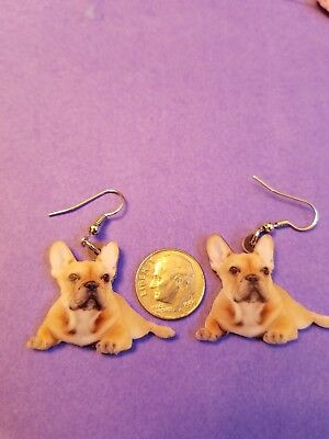 French Bulldog lightweight fun earrings  jewelry FREE SHIPPING! Design 1 of 2