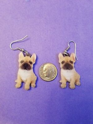 French Bulldog lightweight fun earrings  jewelry FREE SHIPPING! Design 2 of 2