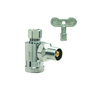 BrassCraft SR12X C 1/2 in FIP X 3/8 in OD Comp Stop Valve with Loose Key-Chrome