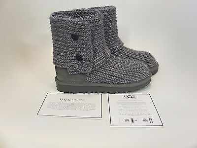 UGG Australia Kids Cardy Grey Boot Girls Sizes 08 NEW!!!