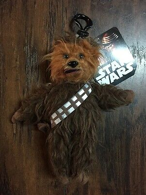 "NEW Star Wars ""Chewbacca"" Zippered Clip-on 7.5"" Collectible Plush w/Tags"