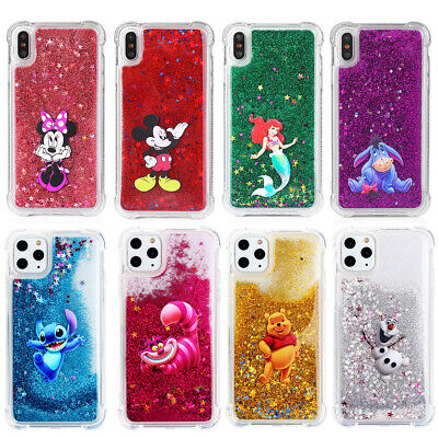 Glitter Disney Liquid Quicksand Hard Cover Case For iPhone Xs Max 5s 6s 7 8 Plus