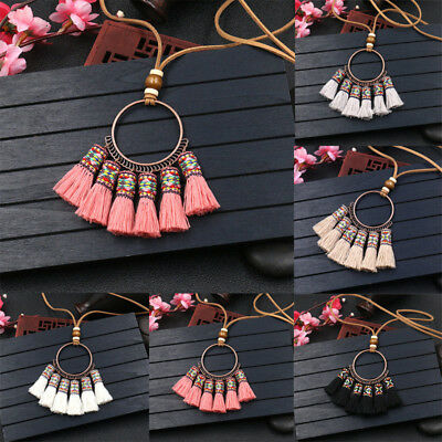 1Pc Women Charm Necklace Tassel Pendant Sweater Chain Lady Jewelry Accessories
