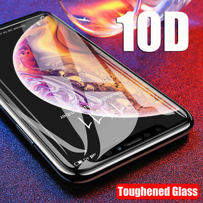 10D Curved Tempered Glass Screen Protector Protective For iPhone X XS Max XR /DA