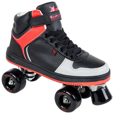 ROOKIE Rollschuh Rollerskates HYPE HI TOP TRAINER 2016 black/red Rollerskate