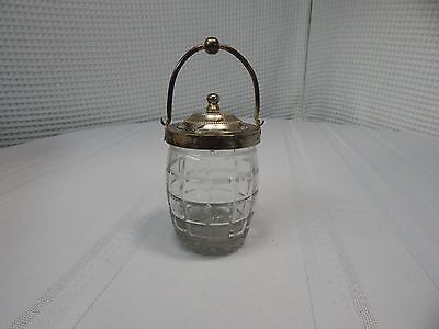Vintage! Silverplate Cut Glass Relish/Pickle Jar