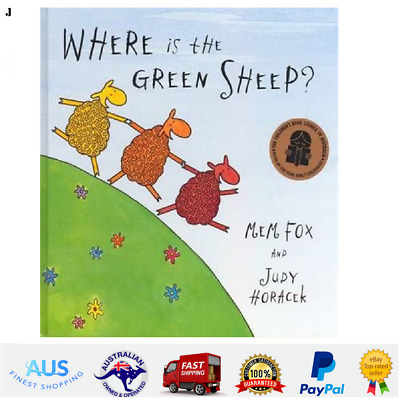 Where Is The Green Sheep? by Mem Fox and Judy Horacek Board Book Perfect Gift