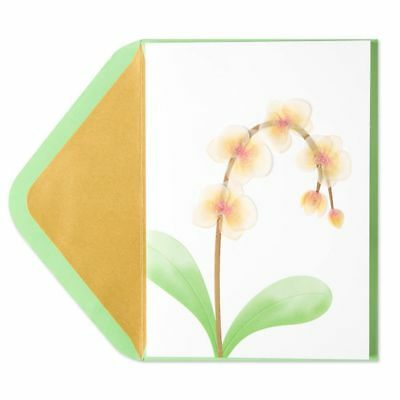 NEW Papyrus Greeting Card Sympathy Vellum Orchid