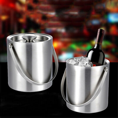 ice bucket for parties insulated with lid stainless steel double