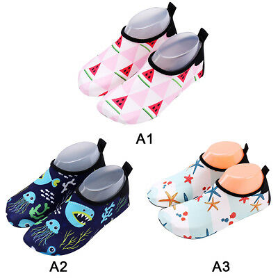 Kids Children Soft Skin Aqua Socks Shoes Beach Swim Exercise Rain Water Footwear