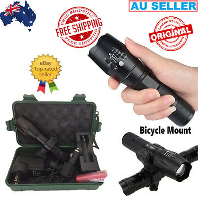 20000LM New CREE Rechargeable Flashlight LED Torch X800 G700 Military Grade AUS