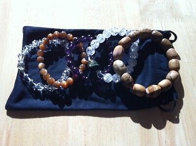 AA chinese lucky charms natural stone bracelets lot of ( one with Tiger eye )