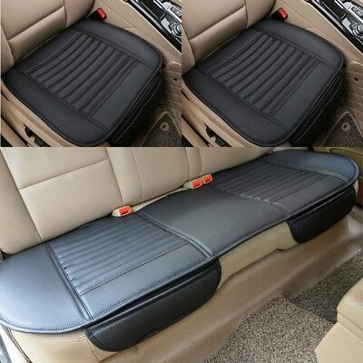 Luxury Car Seat Cover PU Leather Front & Back Cover Mat Breathable Protector Set