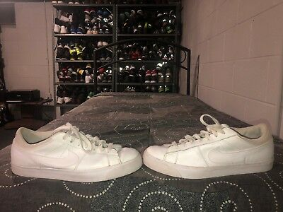 3864517d49f0 Nike Match Supreme LTR Mens Leather Athletic Skate Shoes Size 11.5 White