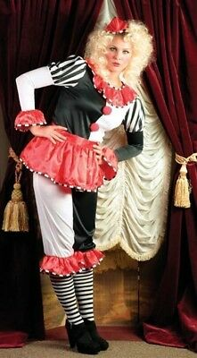 Victorian Trading Co PIERROT GOURMAND French Clown Halloween Costume S/M