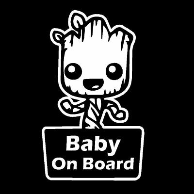 Groot Baby On Board Funny Cute Guardians Of The Galaxy Child Car Humour