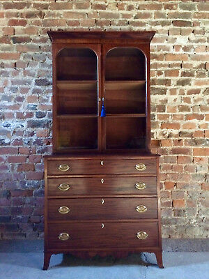 Stunning Antique Bookcase Chest of Drawers Mahogany Victorian19th Century 1845