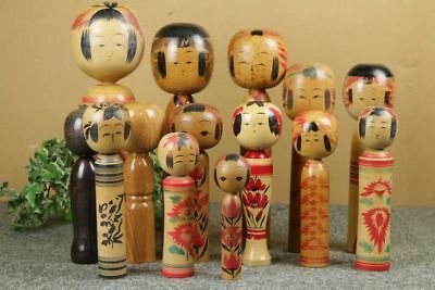 Kokeshi japanese traditional crafts JAPAN rare toy retro beutiful F/S*