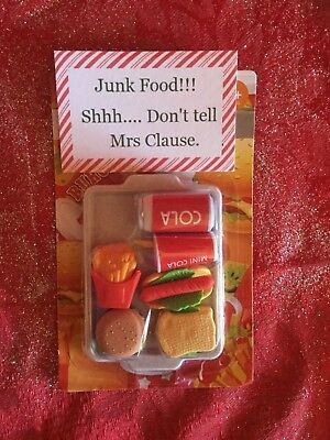 Handmade Xmas Elf Accessories /Junk Food Feast Compatable with Elf on the Shelf