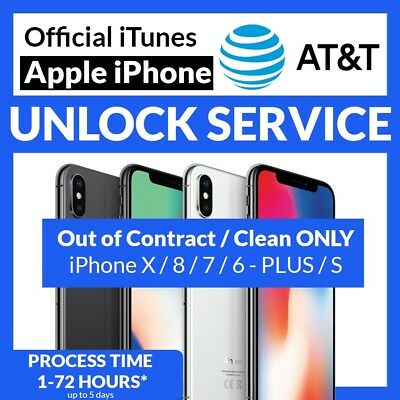 Clean | Active Line Factory Unlock Service  At&t Iphone Xs Xr X 8 7
