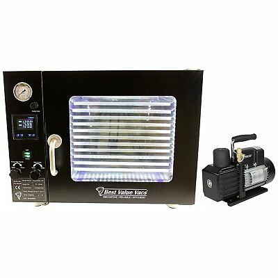 Best Value Vacs 1.9CF Vacuum Oven (Black)- 5 Wall Heat, Touch Screen, 11 She ...