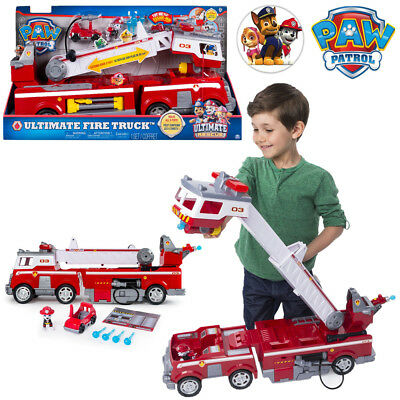 Paw Patrol Deluxe Ultimate Fire Rescue Truck Marshall Vehicle Kid Play Set Toy