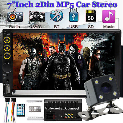 "7""Car Stereo Radio FM/MP5 Player HD 1080P Touch Screen+Camera For Android&Apple"