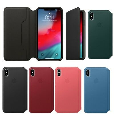 For iPhone XS Max/XS XR Leather Folio Protective Cover Case Flip Wallet Cases