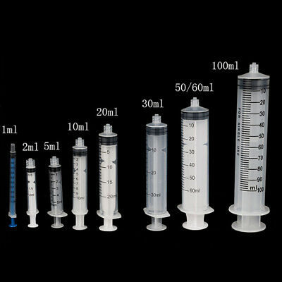 Industrial Syringes Spiral Mouth 2ml to 100ml Ink Cartridges DIY Luer Lock Craft