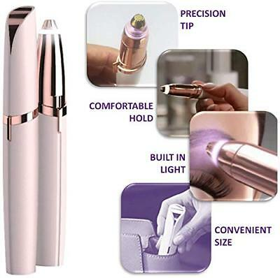 Electric Finishing Touch Flawless Brows Hair Remover Face Eyebrow LED Light AU