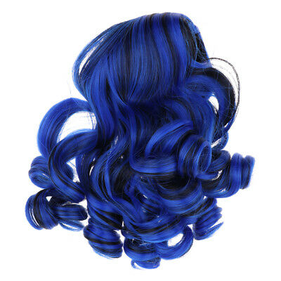 "MagiDeal Bue Curly Hair 28-30cm Wig for 18"" American Girl Doll DIY Making"