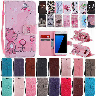 For Samsung Galaxy S9/S9+ Plus Cute Pattern Leather Wallet Stand Flip Case Cover