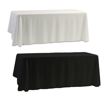 "57"" Satin Tablecloth Table Cover Wedding Party Hotel Restaurant Banquet 145cm"