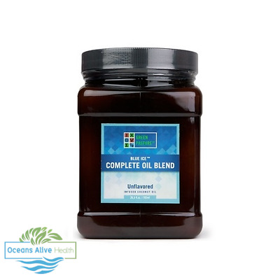 Blue Ice™ Complete Oil Blend (Unflavoured) Green Pasture 783ml MCT, Omega 3