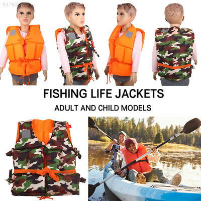 0AD1 Hiking Clothing Life Jackets Adult/Kids Accessories Fishing Costume