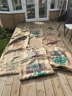 2 Jute/Hessian Various Design Coffee Sack