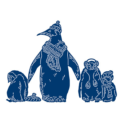 Tattered Lace MOTHER & BABY PENGUINS Craft Cutting Die Set -447539 - FREE UK P&P