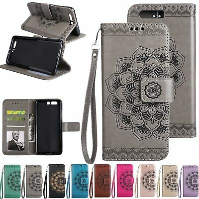 For Huawei P8 P9 P10 Lite Y5II Y6 II Flip Leather Wallet Stand Flower Case Cover