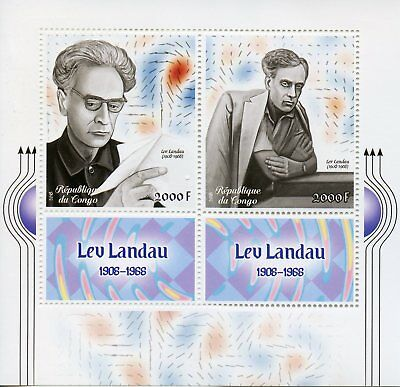 Congo 2018 MNH Lev Landau Nobel Prize Physics 2v M/S Science Stamps