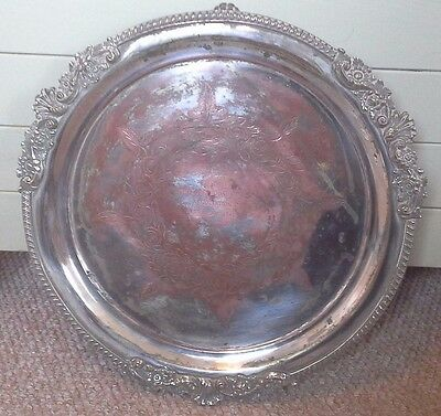 Rare large Harringay Greyhound racing silver plate trophy/plate, trophy, silver