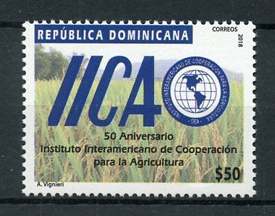 Dominican Republic 2018 MNH IICAO Agriculture Cooperation 1v Set Nature Stamps