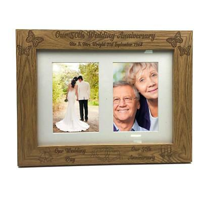 Personalised 25th Wedding Anniversary Wooden Photo Frame Gift FW329