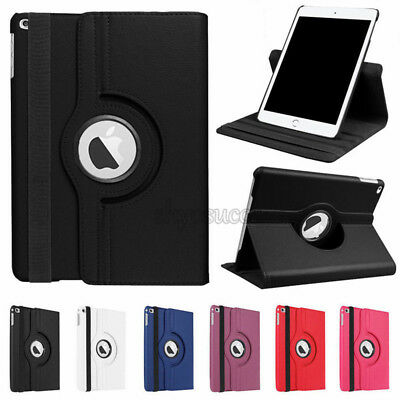 "Rotating Magnetic Leather Smart Cover Case For New iPad 6th Generation 9.7"" 2018"