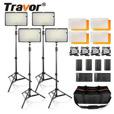 4pcs/Kit TL-240 LED Video Light Studio Photography Camera Photo Lighting Set USA