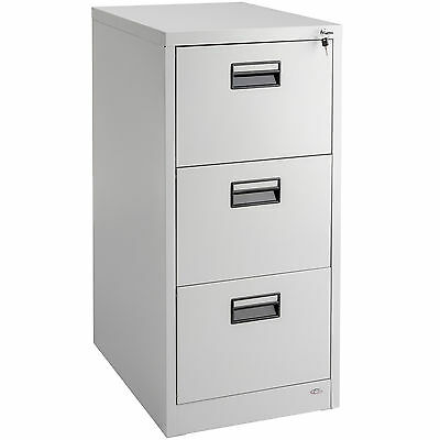 Filing cabinet office storage cupboard metal with 3 drawers for hanging A4 files