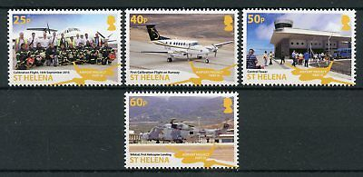 St Helena 2018 MNH Airport Project III 4v Set Helicopters Planes Aviation Stamps