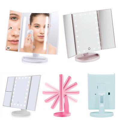 22 LED Illuminated Touch Screen Make Up Beauty Cosmetic Tabletop Vanity Mirror