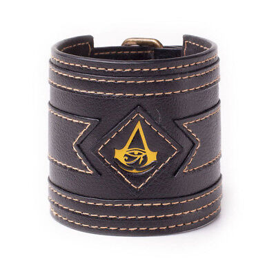 ASSASSIN'S CREED Origins Crest Wristband, One Size, Black/Yellow (WB230567ACE)..