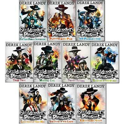 Landy Skulduggery pleasant series Derek Collection 10 Books Set Paperback New